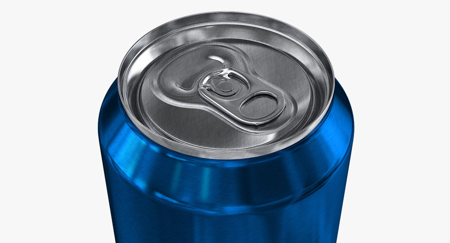 Tall Beverage Can royalty-free 3d model - Preview no. 4