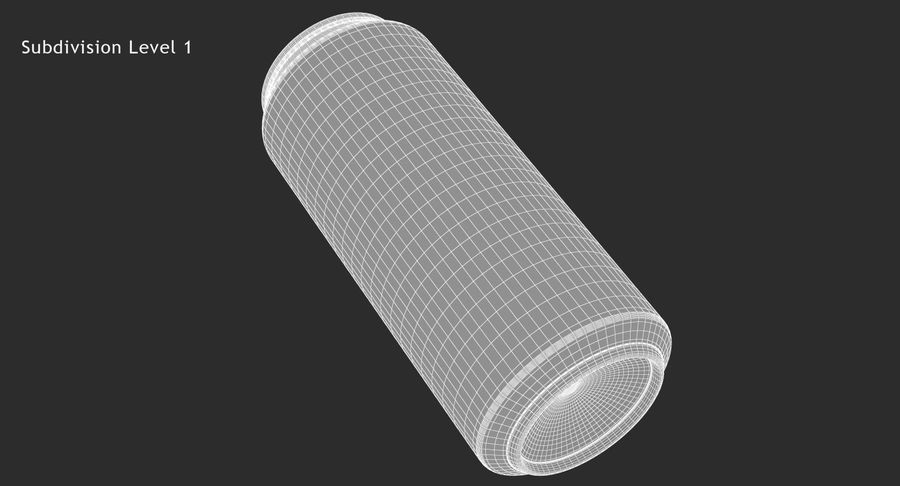 Tall Beverage Can royalty-free 3d model - Preview no. 18