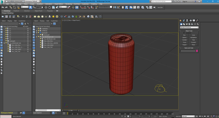 Tall Beverage Can royalty-free 3d model - Preview no. 25