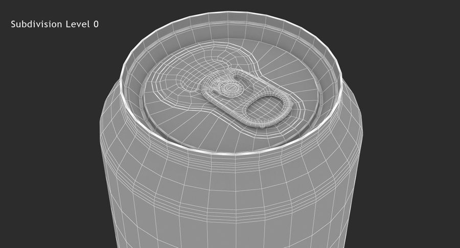 Tall Beverage Can royalty-free 3d model - Preview no. 13