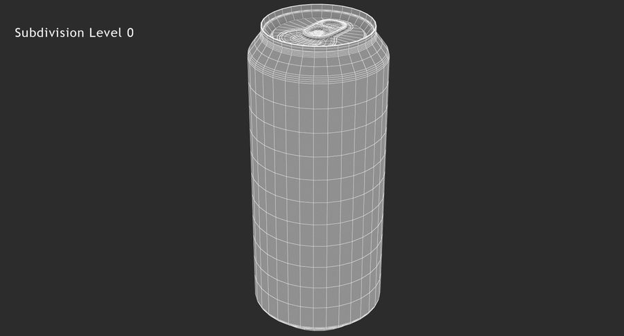 Tall Beverage Can royalty-free 3d model - Preview no. 11