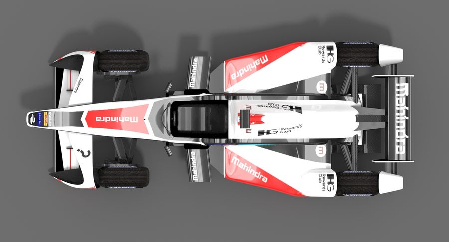 Mahindra Racing Formula E Season 2015-2016 v2 royalty-free 3d model - Preview no. 5