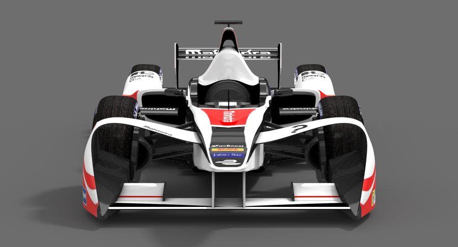 Mahindra Racing Formula E Season 2015-2016 v2 royalty-free 3d model - Preview no. 6