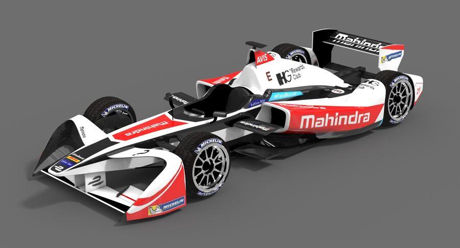 Mahindra Racing Formula E Season 2015-2016 v2 royalty-free 3d model - Preview no. 2