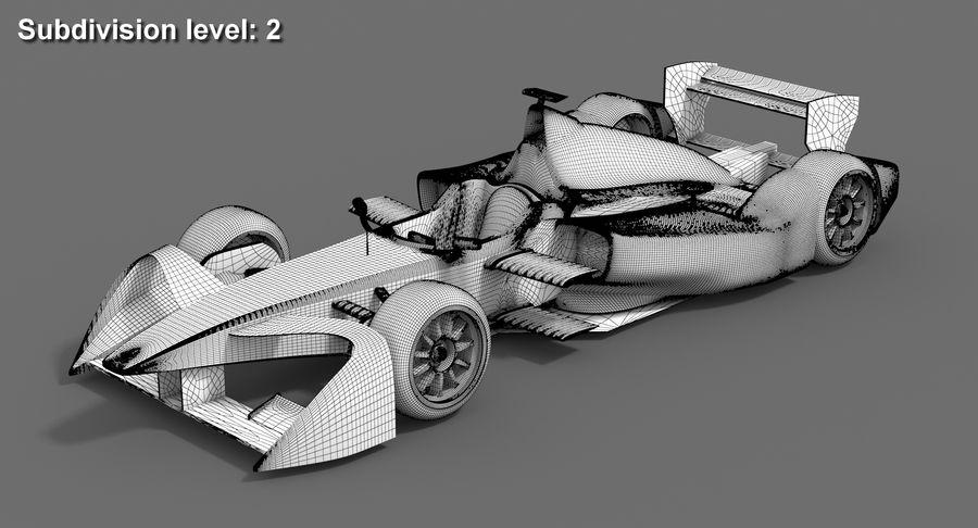 Mahindra Racing Formula E Season 2015-2016 v2 royalty-free 3d model - Preview no. 9