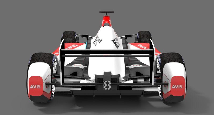 Mahindra Racing Formula E Season 2015-2016 v2 royalty-free 3d model - Preview no. 7