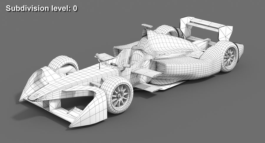 Mahindra Yarış Formula E Sezon 2015-2016 v2 royalty-free 3d model - Preview no. 8