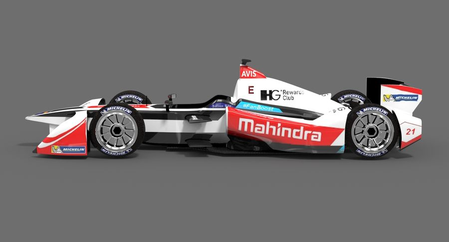 Mahindra Racing Formula E Season 2015-2016 v2 royalty-free 3d model - Preview no. 4