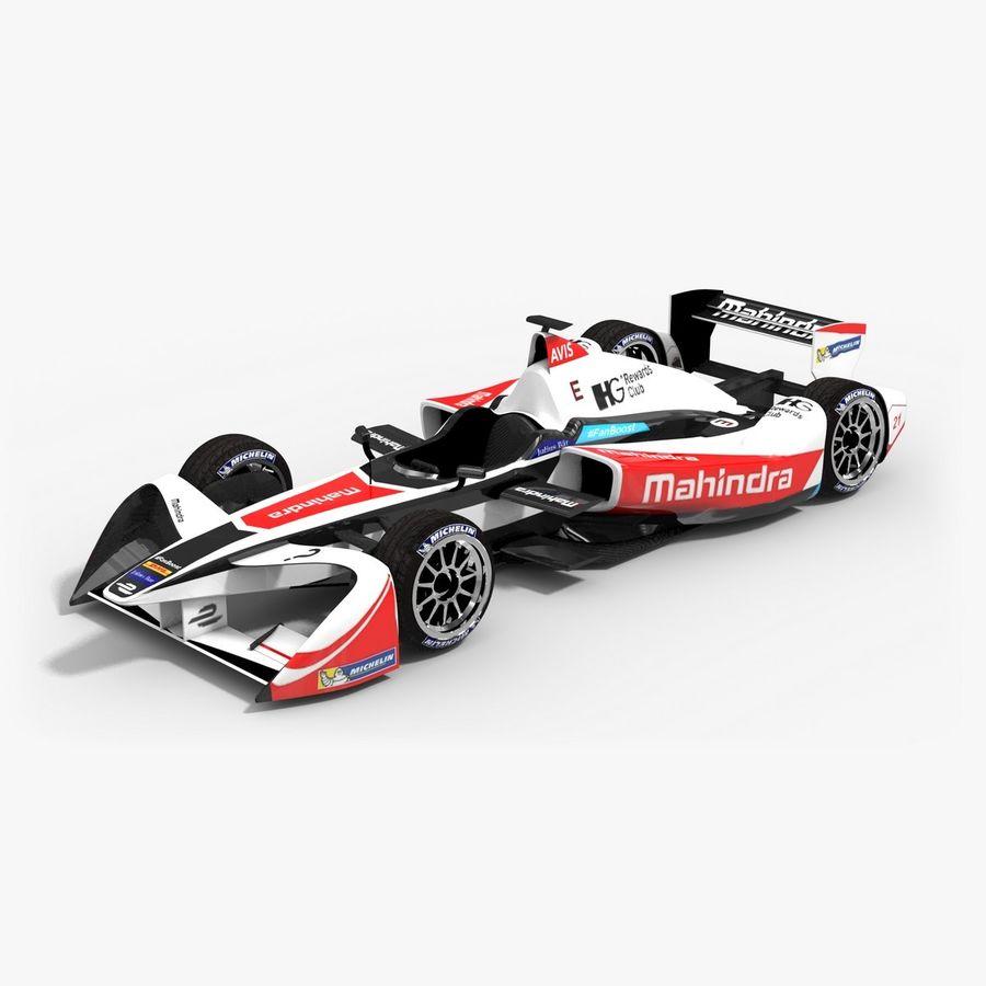 Mahindra Racing Formula E Season 2015-2016 v2 royalty-free 3d model - Preview no. 1