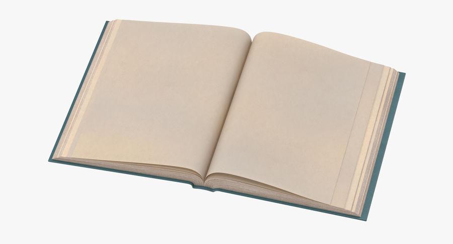 クラシックブック04オープンミドル royalty-free 3d model - Preview no. 2