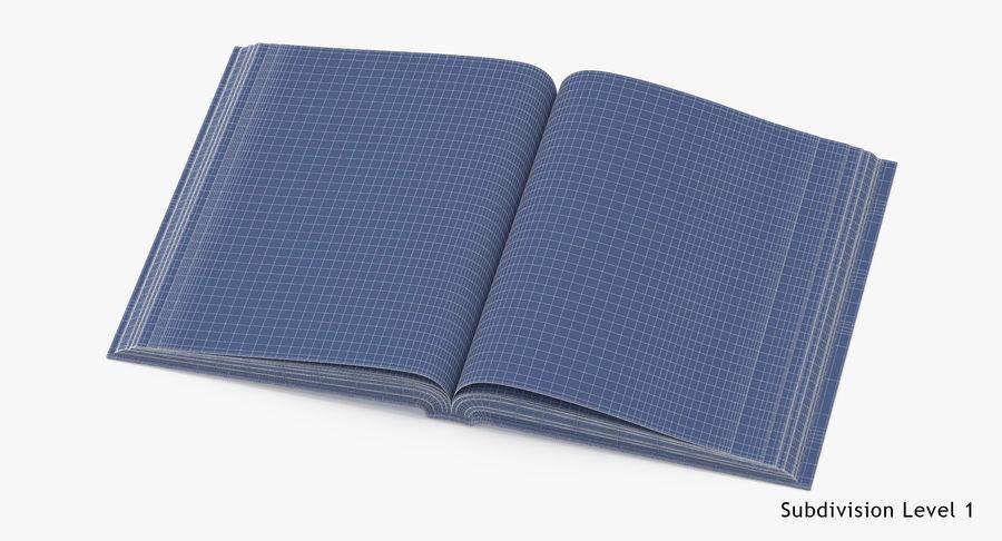 クラシックブック04オープンミドル royalty-free 3d model - Preview no. 16