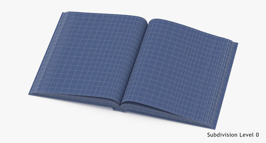 クラシックブック04オープンミドル royalty-free 3d model - Preview no. 15