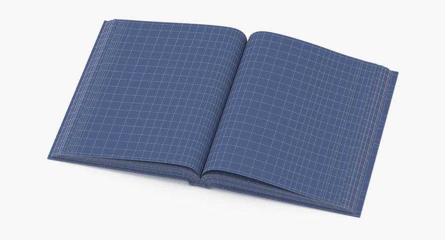 クラシックブック04オープンミドル royalty-free 3d model - Preview no. 9