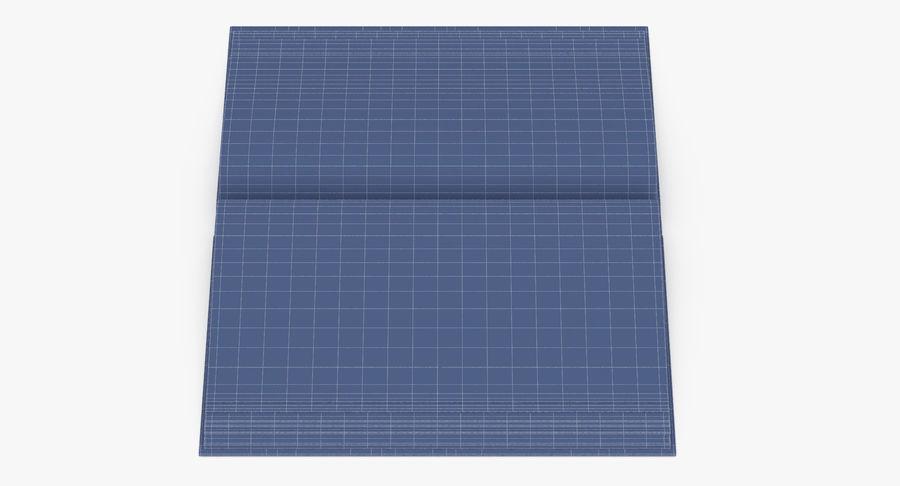 クラシックブック04オープンミドル royalty-free 3d model - Preview no. 14