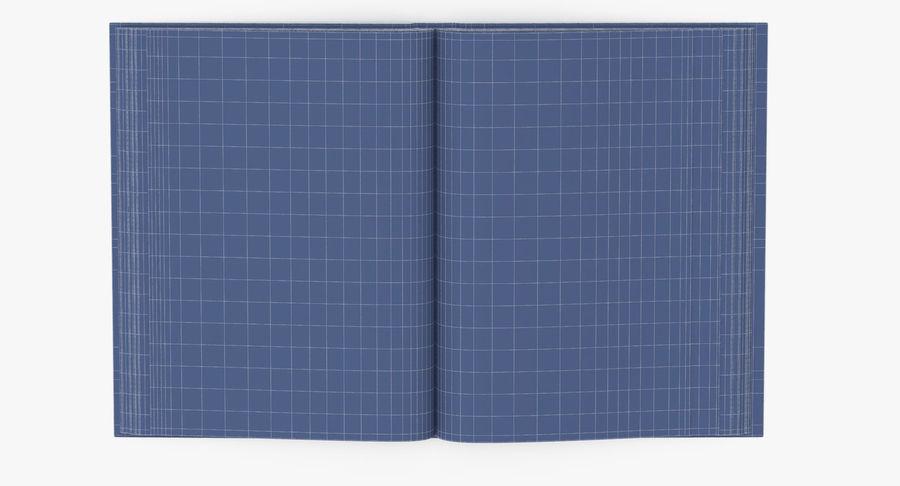 クラシックブック04オープンミドル royalty-free 3d model - Preview no. 13