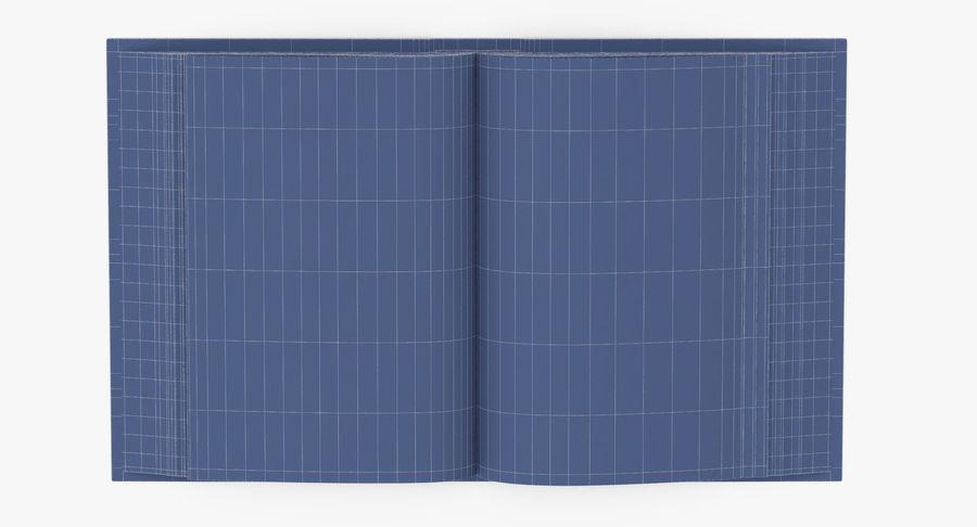 クラシックブック03オープンミドル royalty-free 3d model - Preview no. 13