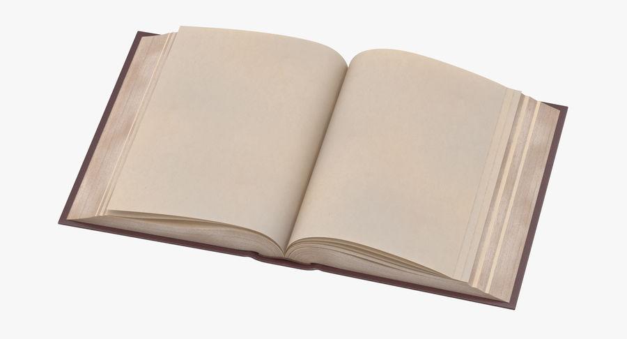 クラシックブック03オープンミドル royalty-free 3d model - Preview no. 2