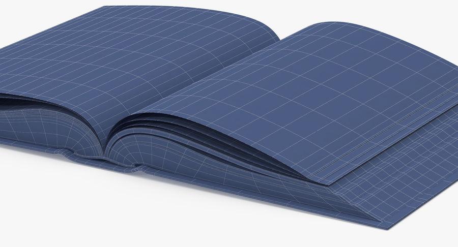 クラシックブック03オープンミドル royalty-free 3d model - Preview no. 12