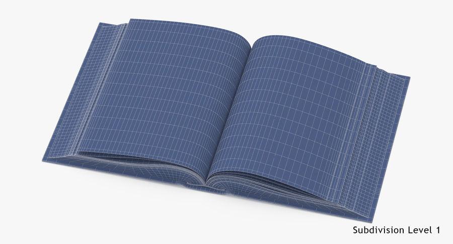 クラシックブック03オープンミドル royalty-free 3d model - Preview no. 16