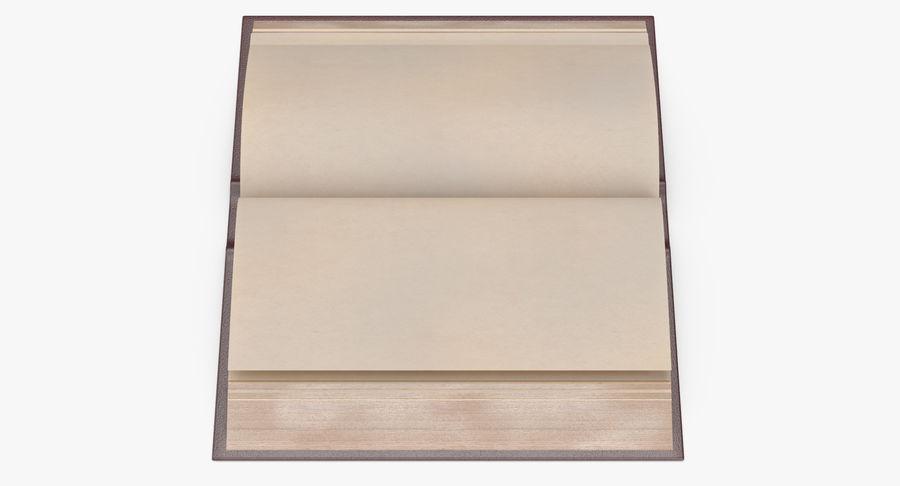 クラシックブック03オープンミドル royalty-free 3d model - Preview no. 8