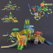 Parque aquático slides2 3d model