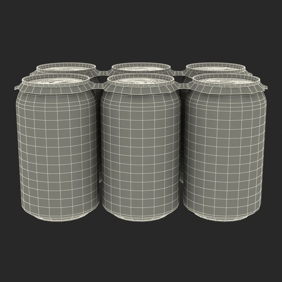 Six Pack of Cans royalty-free 3d model - Preview no. 21