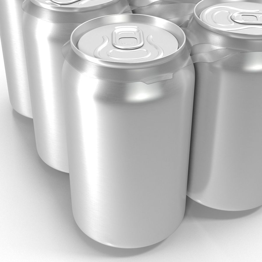 Six Pack of Cans royalty-free 3d model - Preview no. 13