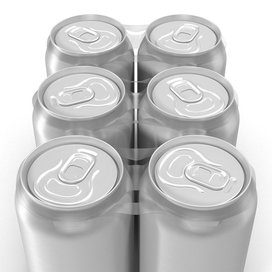 Six Pack of Cans royalty-free 3d model - Preview no. 15