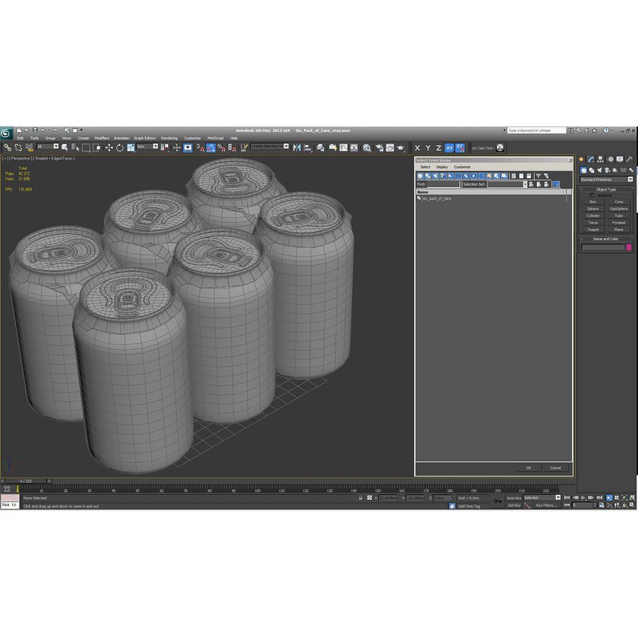 Six Pack of Cans royalty-free 3d model - Preview no. 20