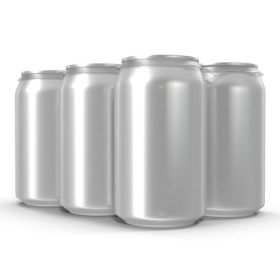 Six Pack of Cans royalty-free 3d model - Preview no. 12