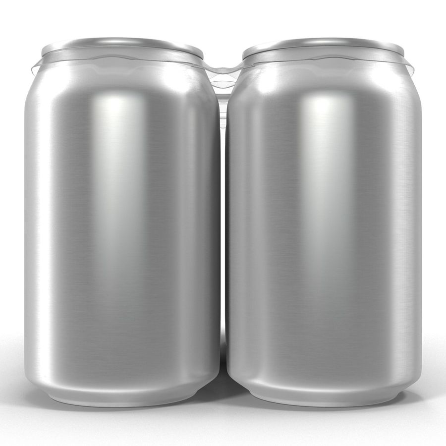 Six Pack of Cans royalty-free 3d model - Preview no. 7
