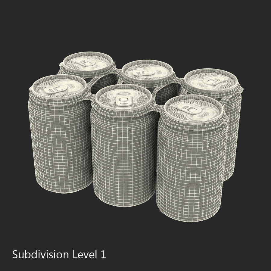 Six Pack of Cans royalty-free 3d model - Preview no. 17