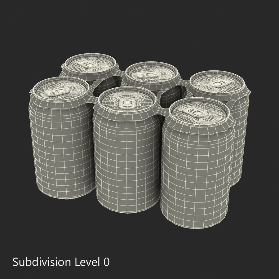 Six Pack of Cans royalty-free 3d model - Preview no. 16