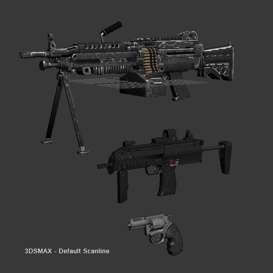 Weapons Pack royalty-free 3d model - Preview no. 12