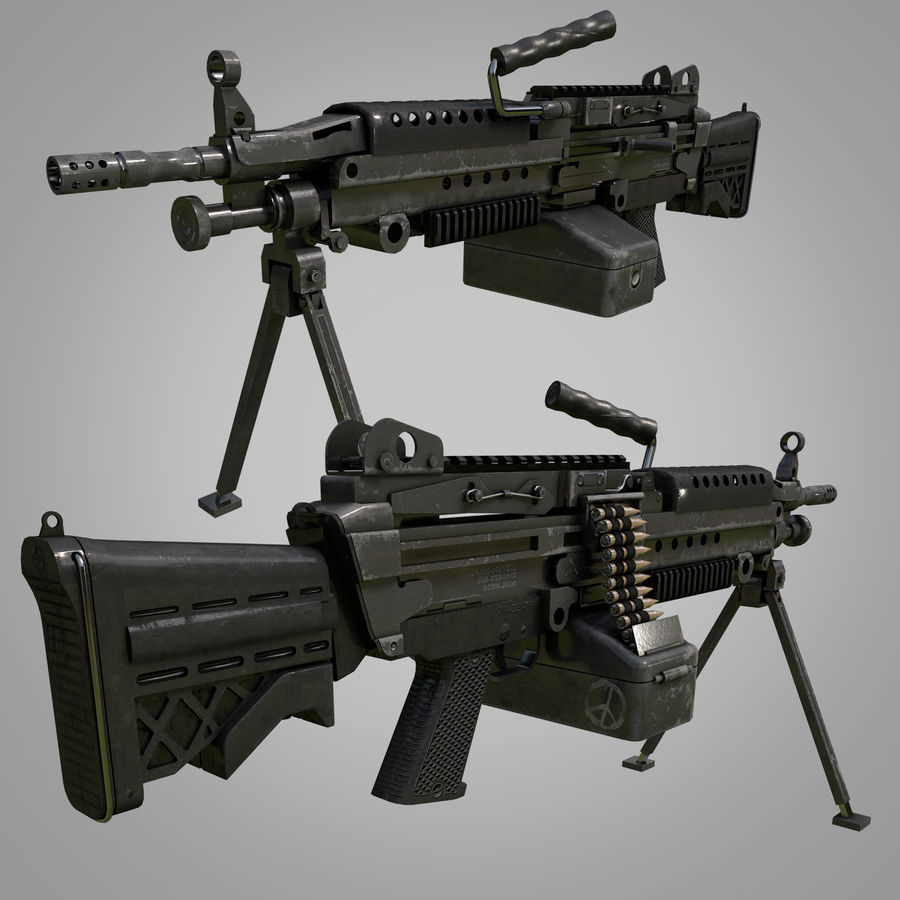 Weapons Pack royalty-free 3d model - Preview no. 3