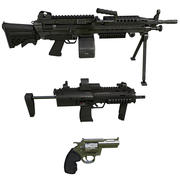 Pacchetto di armi 3d model