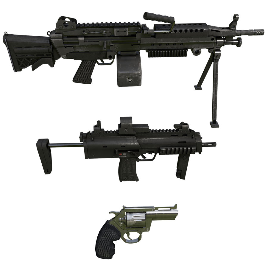 Weapons Pack royalty-free 3d model - Preview no. 1