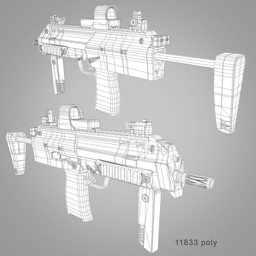 Weapons Pack royalty-free 3d model - Preview no. 7