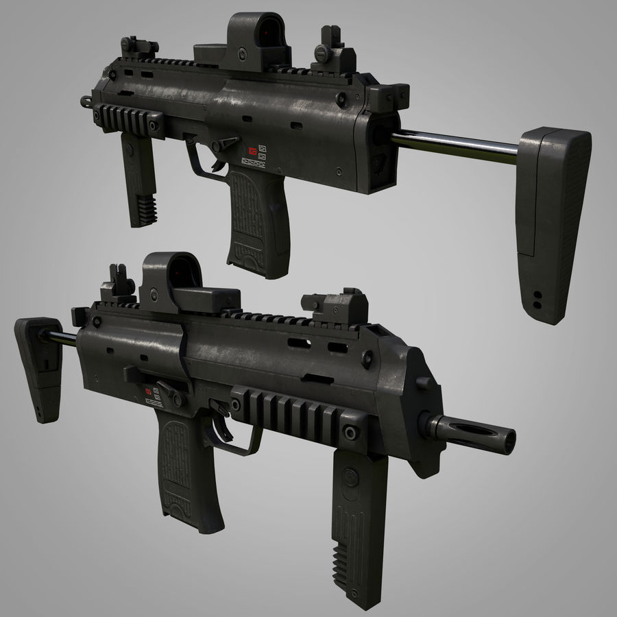 Weapons Pack royalty-free 3d model - Preview no. 6
