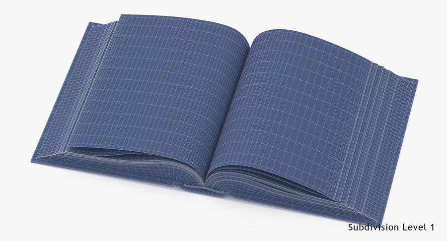 クラシックブック05オープンミドル royalty-free 3d model - Preview no. 16
