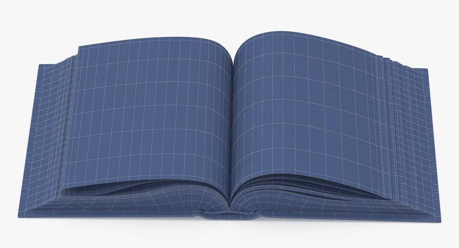 クラシックブック05オープンミドル royalty-free 3d model - Preview no. 10