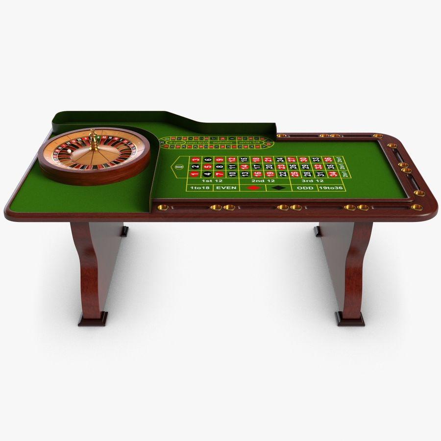 Roulette table 3d model free