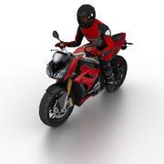 Универсальный велосипед с байкером v.01 3d model