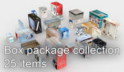 25 lowpoly box paket samling 3d model