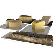 Kolekcja serów i salami vol.1 3d model
