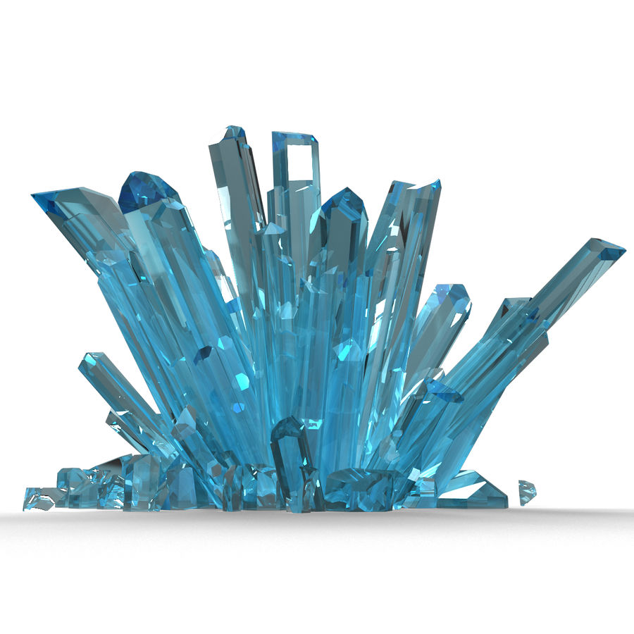 Crystals Blue royalty-free 3d model - Preview no. 5