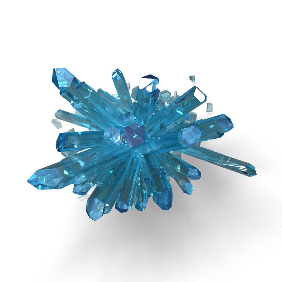 Crystals Blue royalty-free 3d model - Preview no. 6