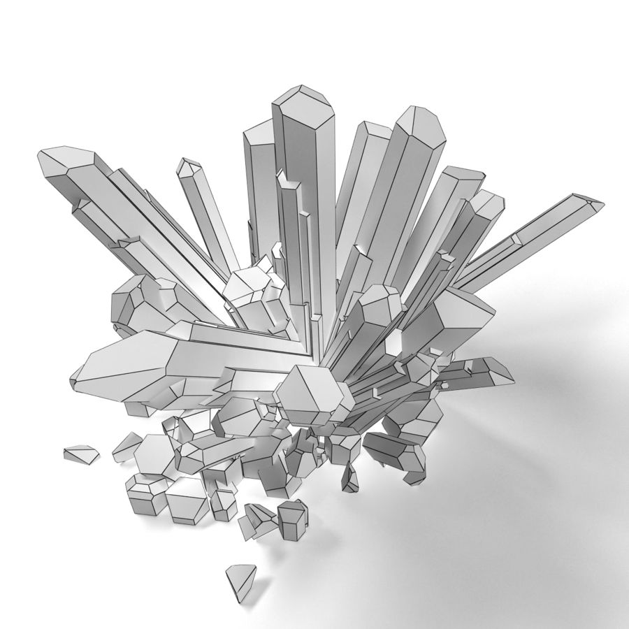 Crystals Blue royalty-free 3d model - Preview no. 9