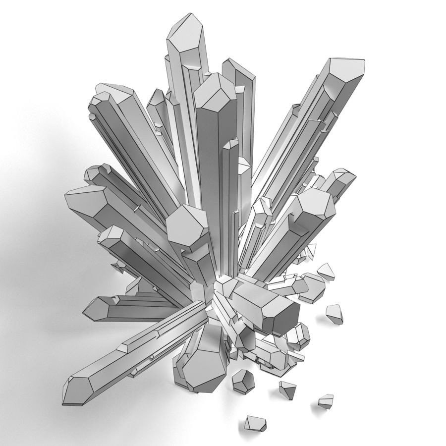 Crystals Blue royalty-free 3d model - Preview no. 8
