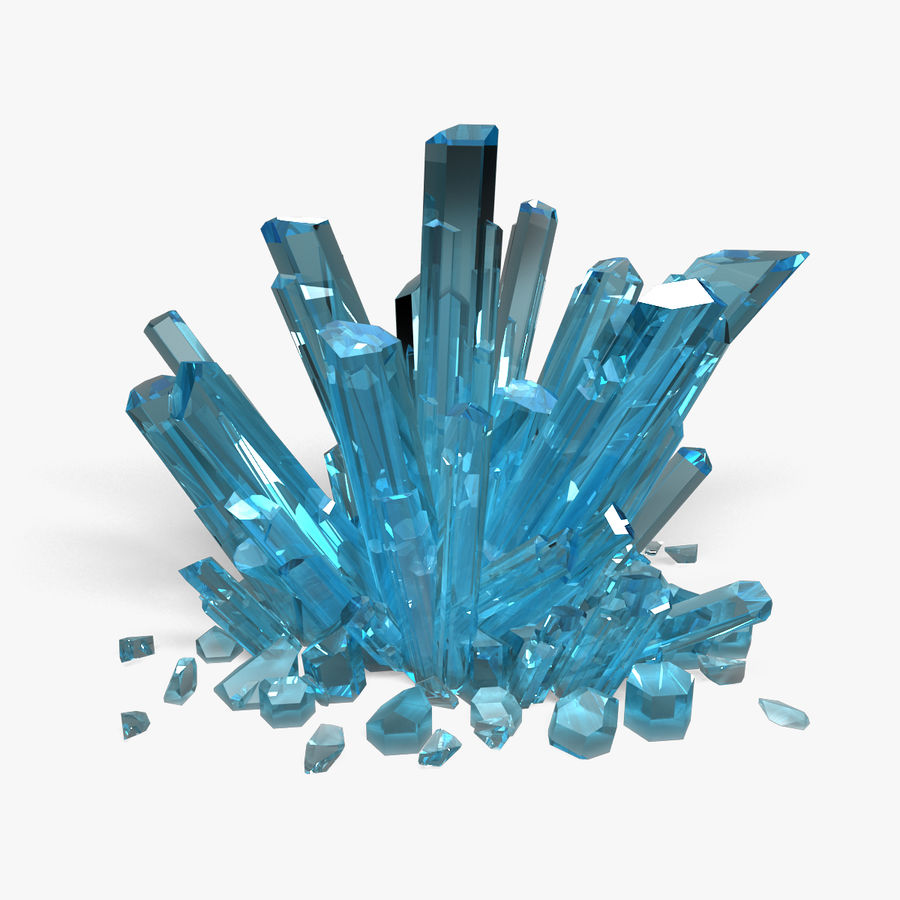 Crystals Blue royalty-free 3d model - Preview no. 1